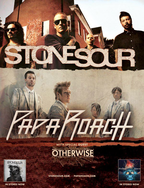 stone sour papa roach and otherwise announce 2013 u s tour the rock revival. Black Bedroom Furniture Sets. Home Design Ideas