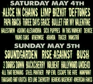 Carolina Rebellion Line-Up 2013