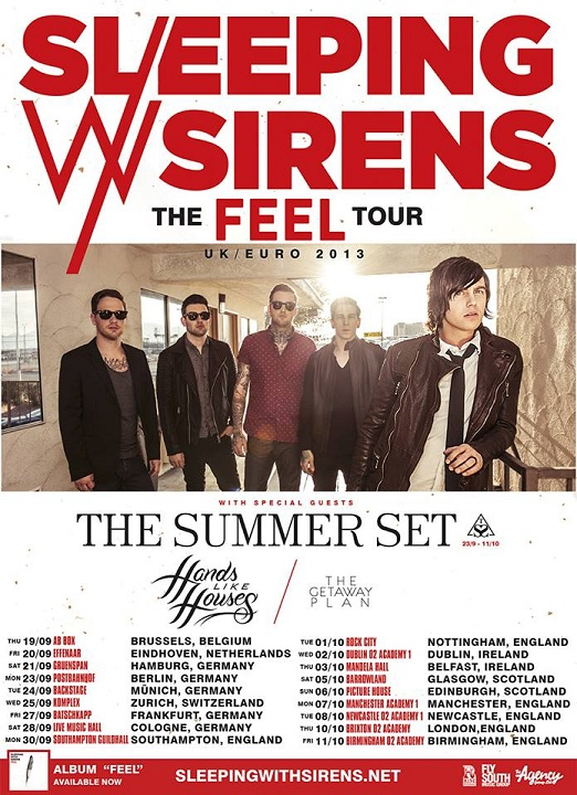 Sleeping with Sirens Summer Set tour 2013