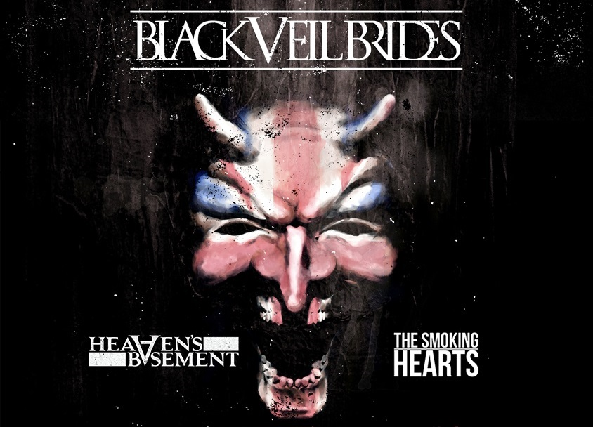 BLACK VEIL BRIDES ANNOUNCE THE CHURCH TOUR II WITH HEAVENS BASEMENT SMOKING HEARTS