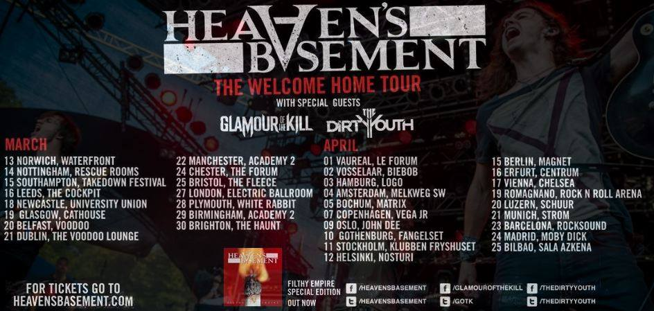 heaven 39 s basement announce 2014 welcome home tour the rock revival