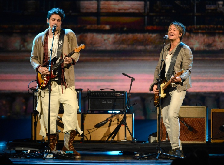 John Mayer and Keith Urban (Photo by Kevin Mazur/WireImage.com)