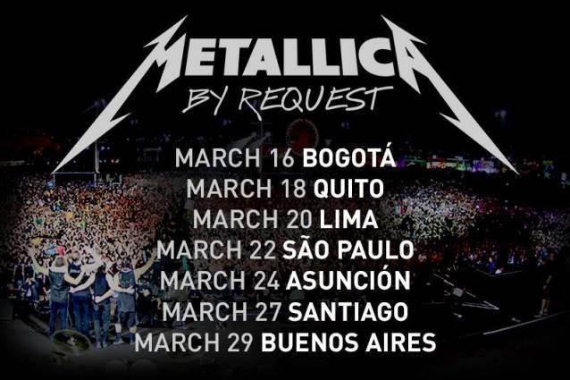 Metallica South America 2014