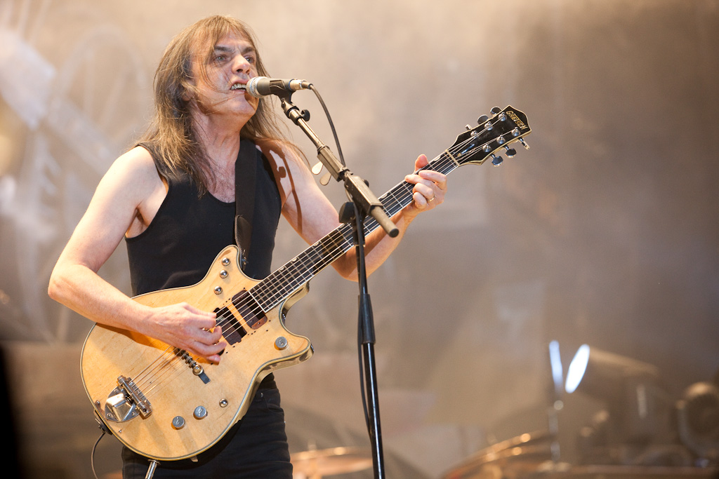 Malcolm Young of AC  DC performing in Sydney Australia in 2010