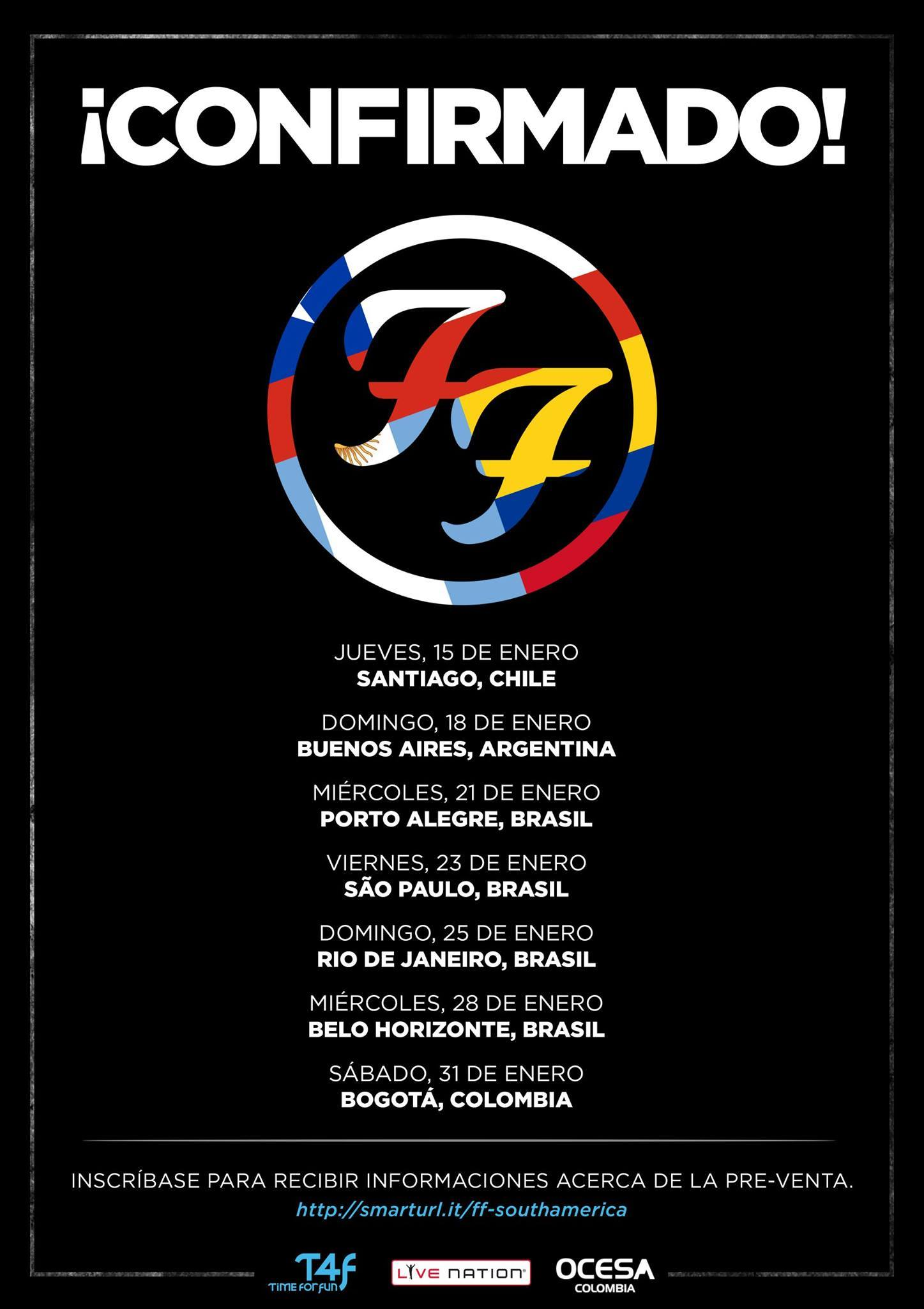 Foo Fighters Tour Announcement