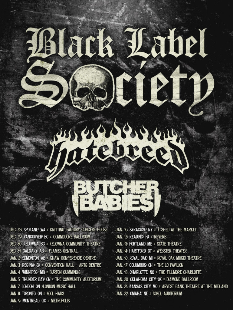 Black label Hatebreed Tour