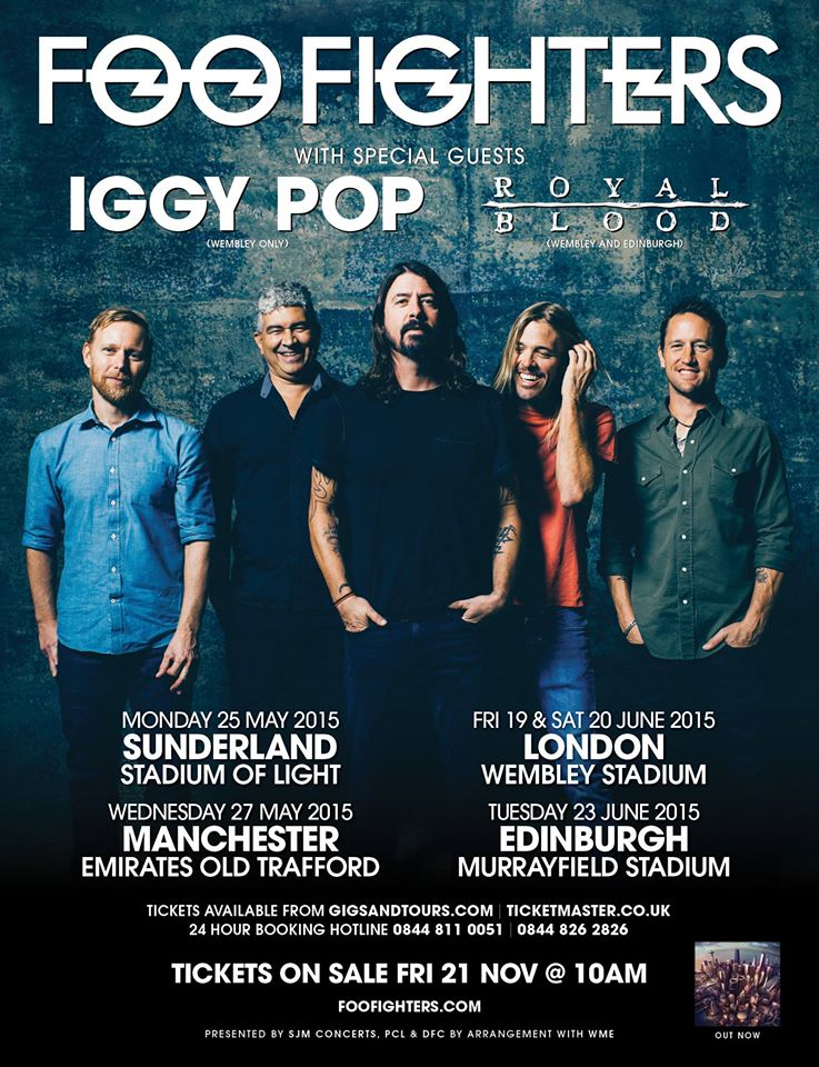 Fighters Europe Com: FOO FIGHTERS ANNOUNCE 2015 UK STADIUM TOUR WITH SPECIAL