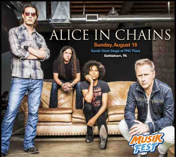 alice in chains to headline musikfest on august 16 in bethlehem pa the rock revival. Black Bedroom Furniture Sets. Home Design Ideas