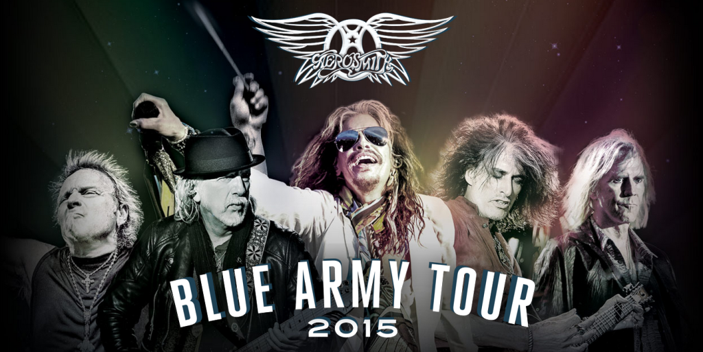 Aerosmith announce 2015 blue army north america tour the for 19 blue salon santa barbara