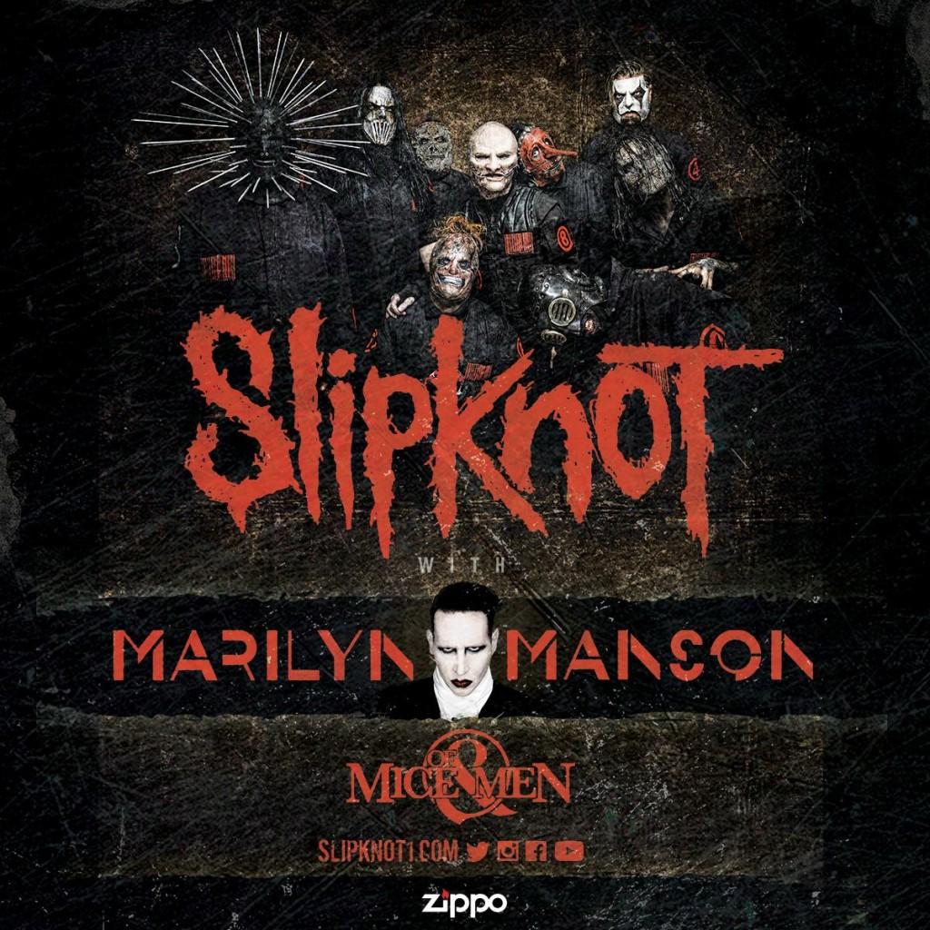 Slipknot Marilyn Manson Of Mice & Men 2016 Tour