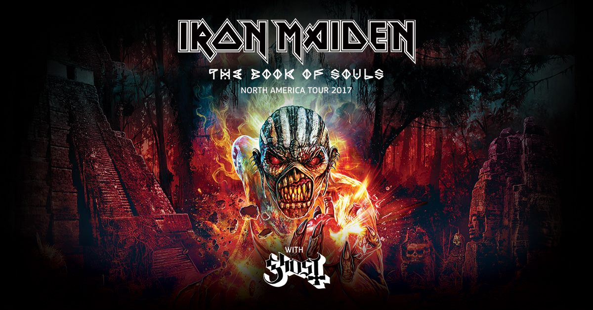 Iron Maiden Announce 2017 Book Of Souls North American