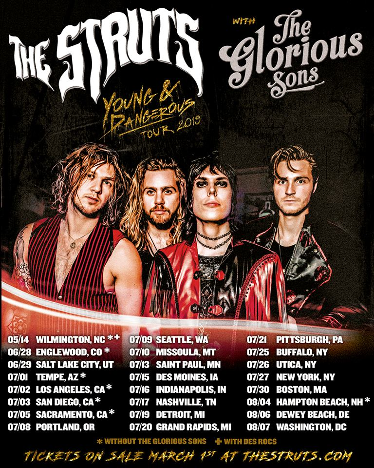 Struts Glorious Sons Tour
