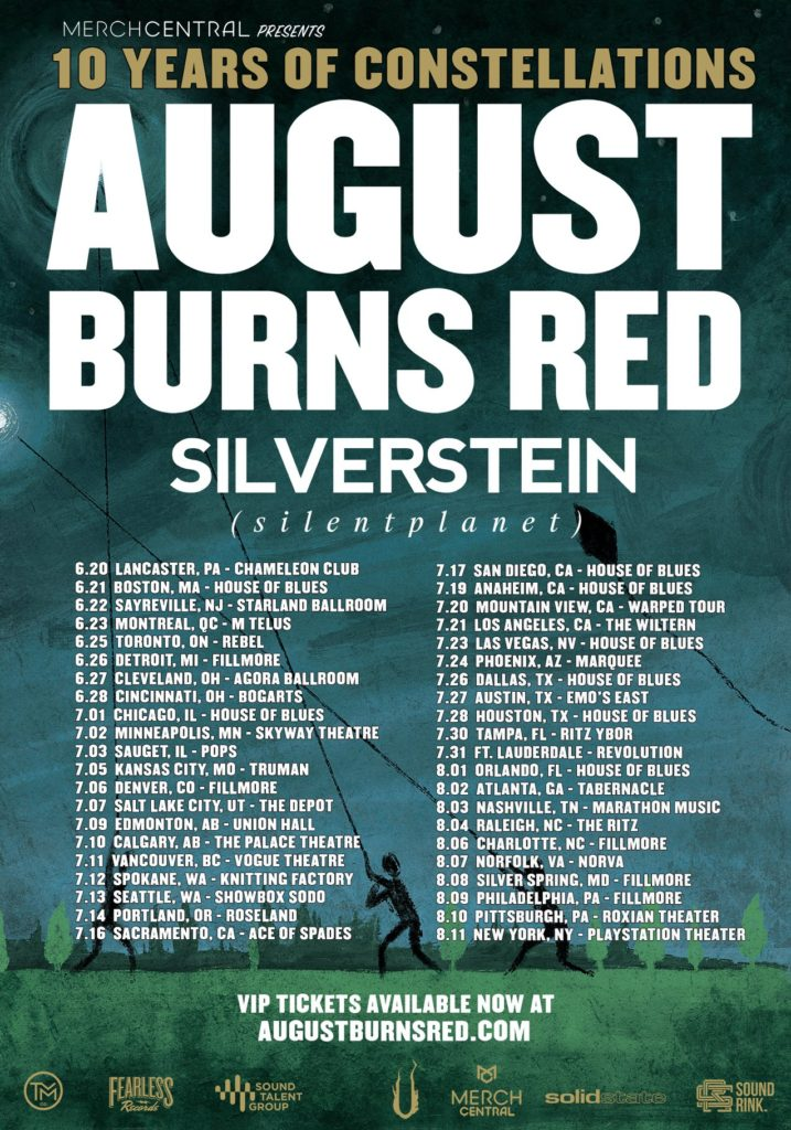 August Burns Red 2019 Tour
