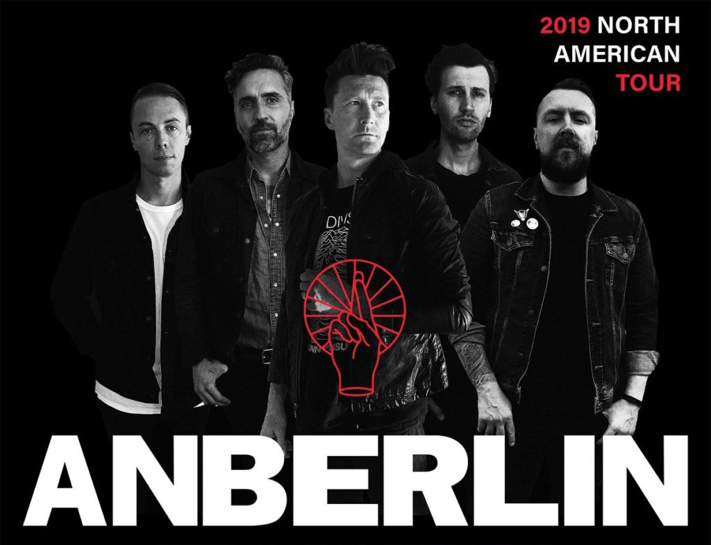 Anberlin 2019 North American Tour